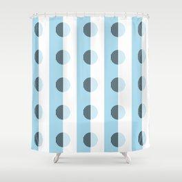 Horizons Geometric Sea Breeze Waterfall Design 9 - Turquoise Blue Shower Curtain