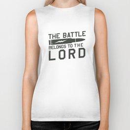 The Battle Belongs to The Lord Biker Tank