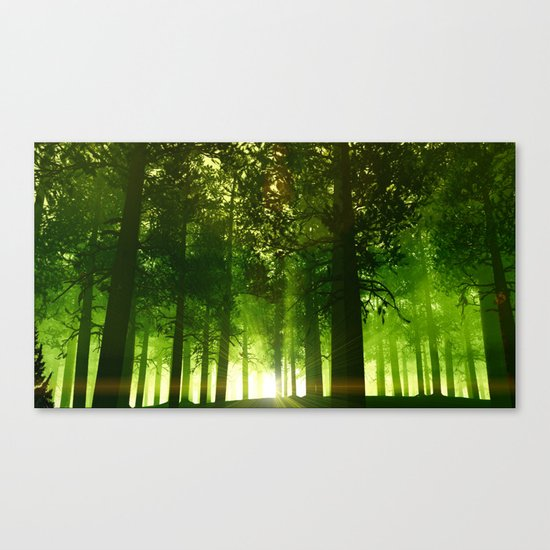 The Green Forest Canvas Print