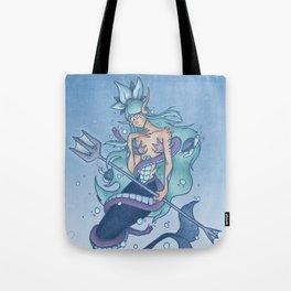 Wanda The Warrior Mermaid Tote Bag