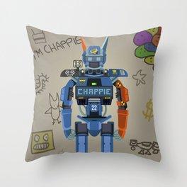 Chappie vector fanart Throw Pillow