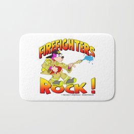 Firefighters Rock Merchandise Bath Mat