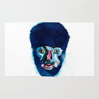 werewolf Area & Throw Rugs featuring werewolf by Alvaro Tapia Hidalgo