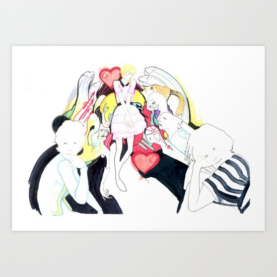Whe love Fashion 2 Art Print