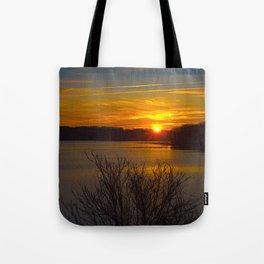 Sunrise at Little Seneca Lake Tote Bag