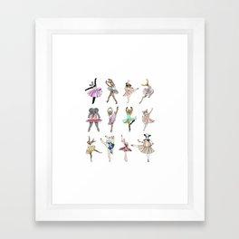 Animal Square Dance Framed Art Print
