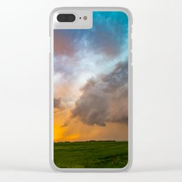 Glorious - Stormy Sky and Kansas Sunset Clear iPhone Case