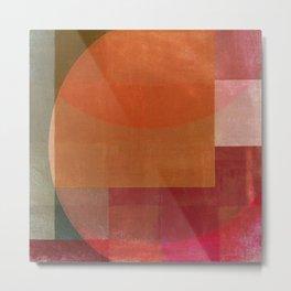 Squares in Shades Metal Print