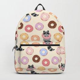 Donut-loving raccoons Backpack
