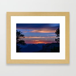 Colorful Sunset - North_Rim, Grand_Canyon, AZ Framed Art Print