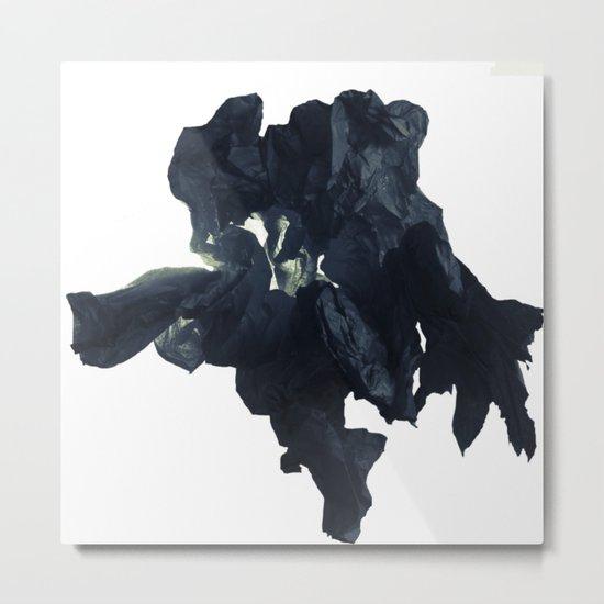 Black paper flower Metal Print
