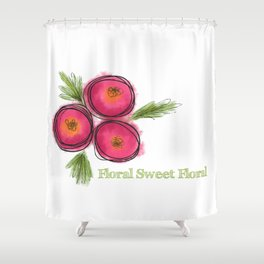 Floral Sweet Floral Shower Curtain