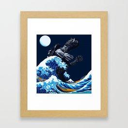 THE GREAT GAMERA OF KANAGAWA Framed Art Print