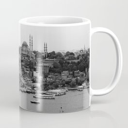 Istanbul city photography in black and white Coffee Mug