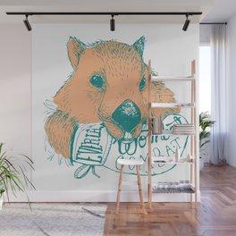 Wombat Combat Wall Mural