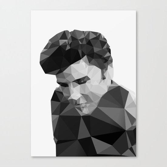 Elvis Presley - Digital Triangulation Canvas Print