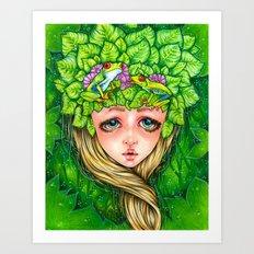 Think Green Art Print