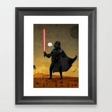 Darth and the Moths Framed Art Print