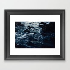 Salt Water Study Framed Art Print