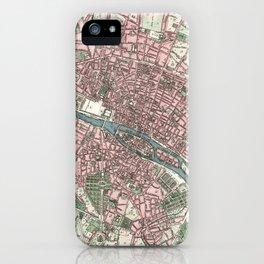 Vintage Map of Paris France (1821) iPhone Case