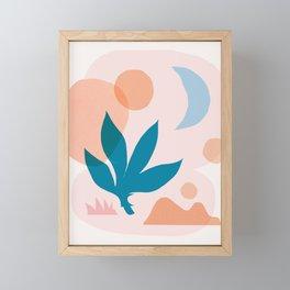 Abstraction_Nature_Companion_001 Framed Mini Art Print