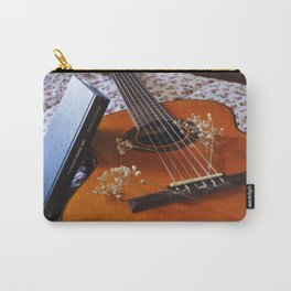 Book and guitar by Giada Ciotola Carry-All Pouch