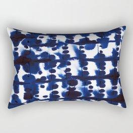 Parallel Indigo Rectangular Pillow