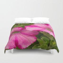 Pink Pansies Duvet Cover