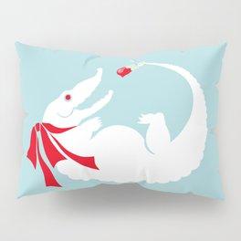 White alligator Pillow Sham
