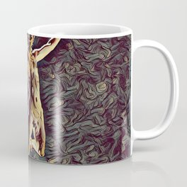 1294s-ZAC Dancer in Midair Leap Rendered in the Style of Antonio Bravo Coffee Mug