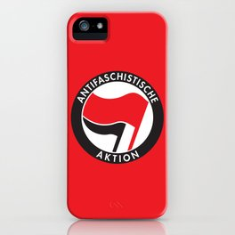 Antifaschistische Aktion iPhone Case