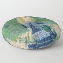 Girl with a Watering Can Floor Pillow