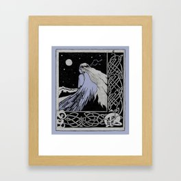 girl-bird Celticum Framed Art Print