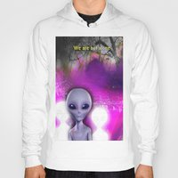 aliens Hoodies featuring Aliens by Aisling Rowland