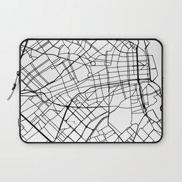 BUENOS AIRES ARGENTINA BLACK CITY STREET MAP ART Laptop Sleeve