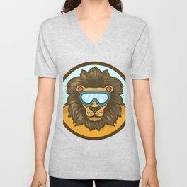 snow lion Unisex V-Neck
