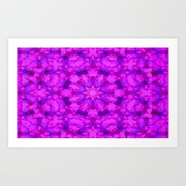 Star blossom pattern Art Print
