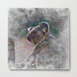 Artistic Animal Koala Metal Print
