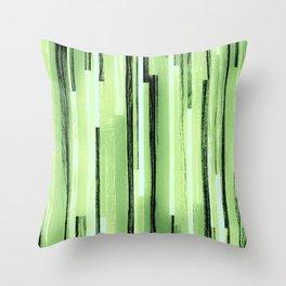Green Black Purple Stripes Throw Pillow