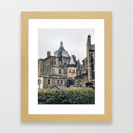 Greyfriars Kirkyard - Candlemakers row in Edinburgh, Scotland Framed Art Print