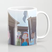 mcfly Mugs featuring Marty McFly by Lesley Vamos