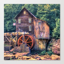 Old Mill in Beckley West Virginia Canvas Print