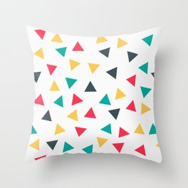 Abstract geometric triangles pattern Throw Pillow