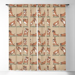 Boxer Yoga Blackout Curtain