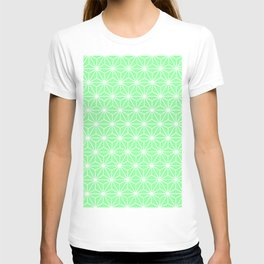 Pastel Green Flowers and Florals Isosceles Triangle T-shirt