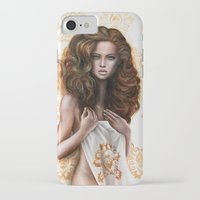 siren iPhone & iPod Cases featuring siren by Steven Bossler
