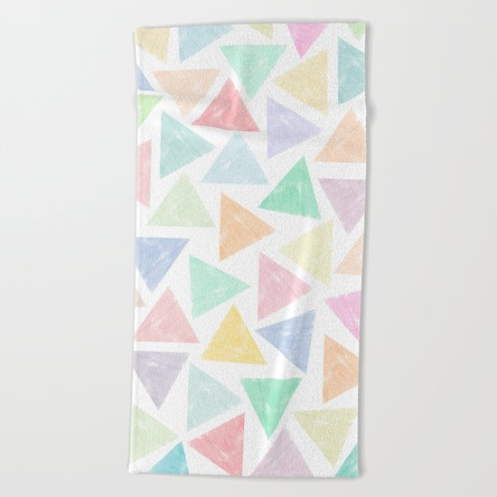 Colorful Geometric Patterns Beach Towel