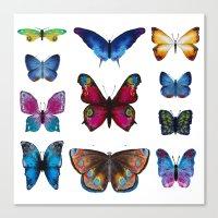 butterflies Canvas Prints featuring Butterflies by Katerina Izotova