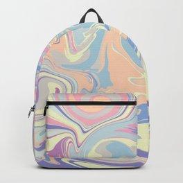 Groovy Retro gal in pink, blue, yellow & orange Pastels Backpack