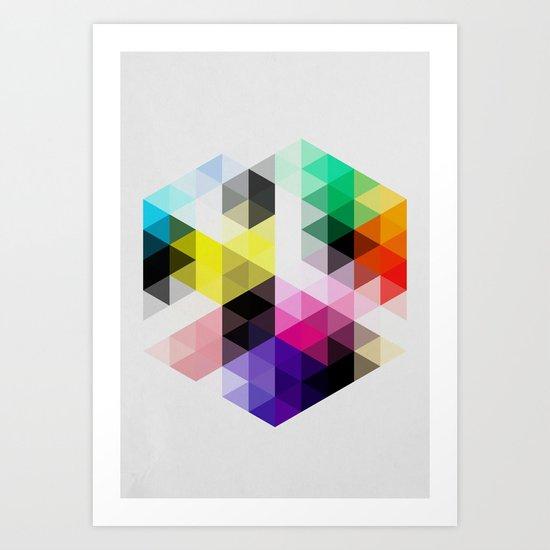 Geo Hex 01. Art Print